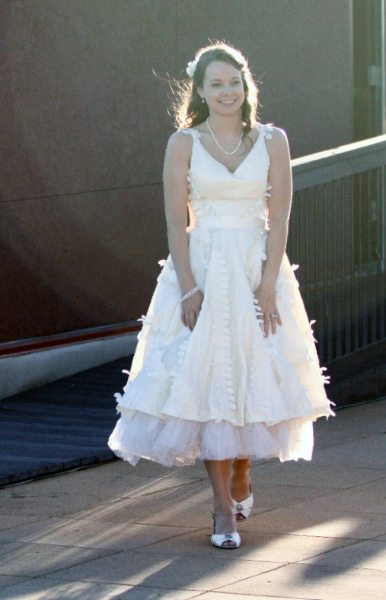 Asia's Taffeta Petal Party Wedding Dress