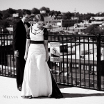 Amber's Black and Ivory Eco Wedding Gown