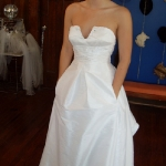 Carly's Custom Modern Wedding Dress