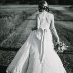 Jasper's Wedding Gown Back- Lace racer-back