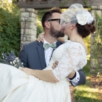 Brittany in Custom 50's Style lace and Cotton Gown