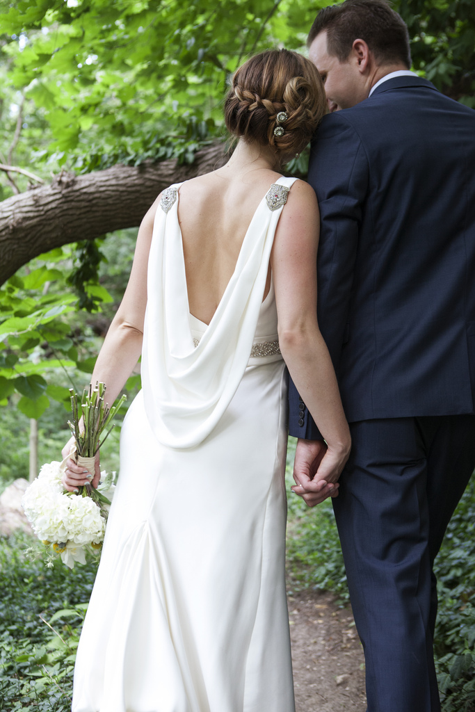 Emily Vintage inspired Custom Wedding Gown by Janay A, low back