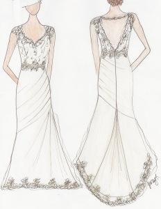 Stacie Custom Gown Sketch Janay A