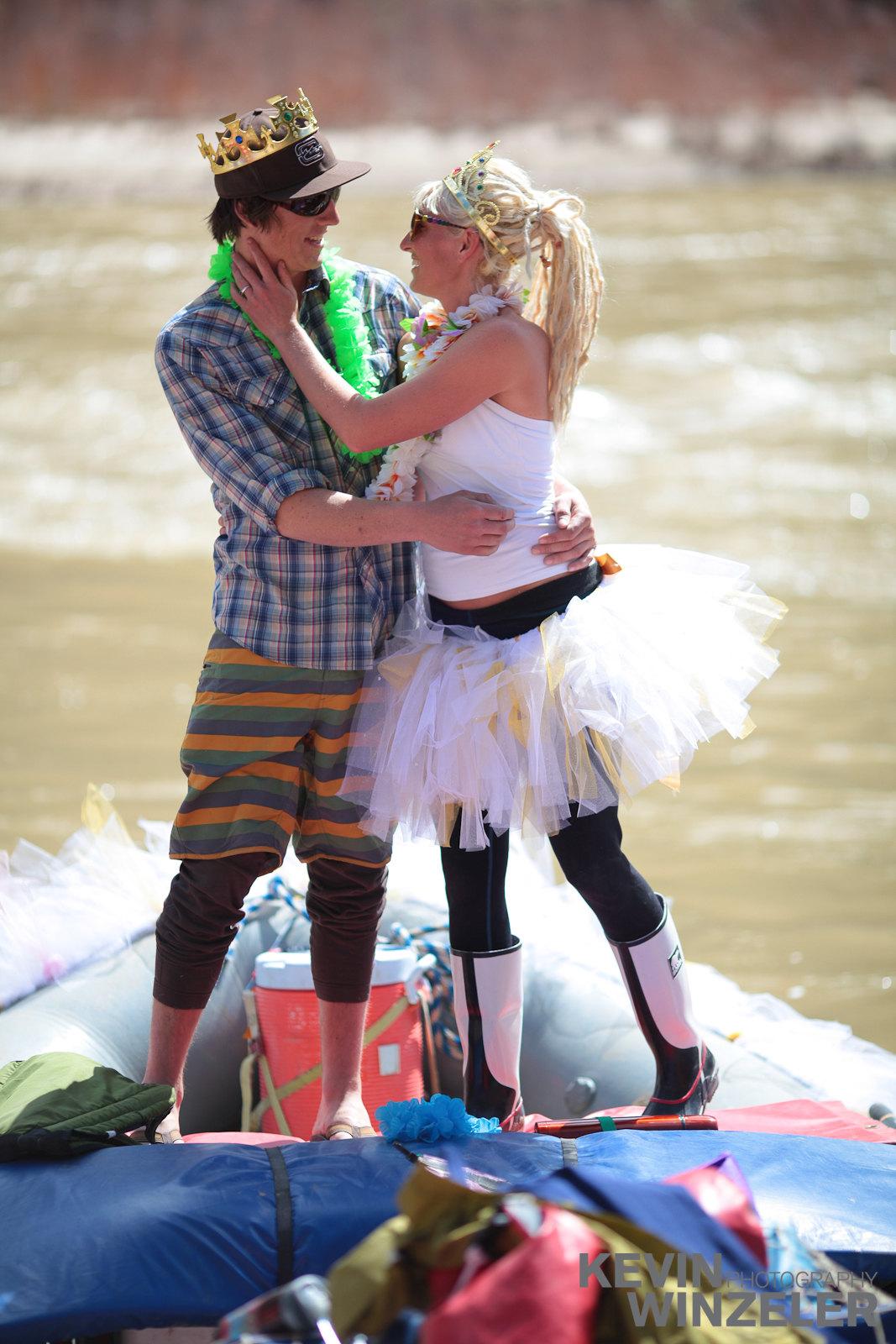 Ericah schiavone and randy winzeler diy tutu wedding river for Wedding dress cleaning utah