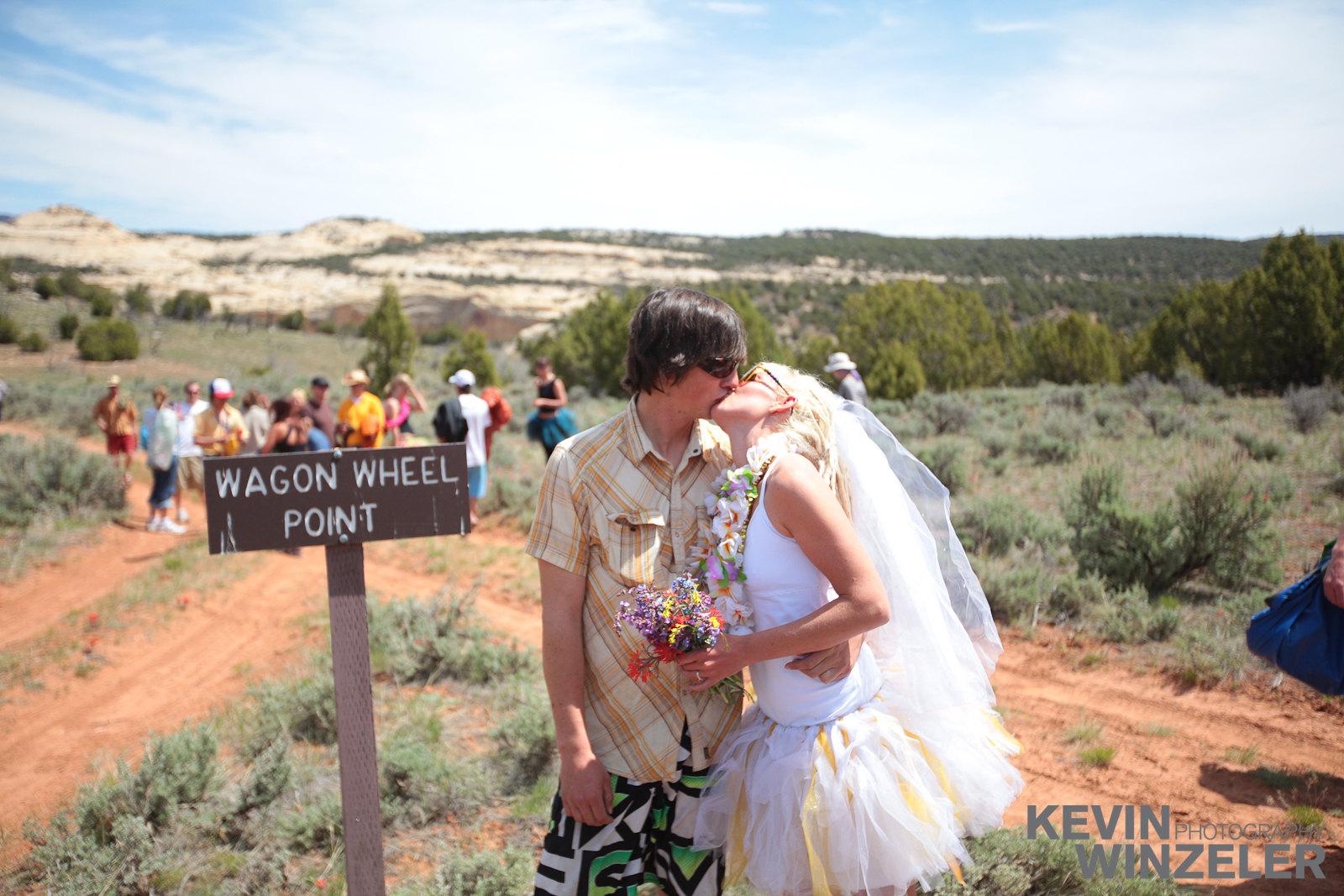 Ericah And Randy Dinasour National Park Utah Wedding