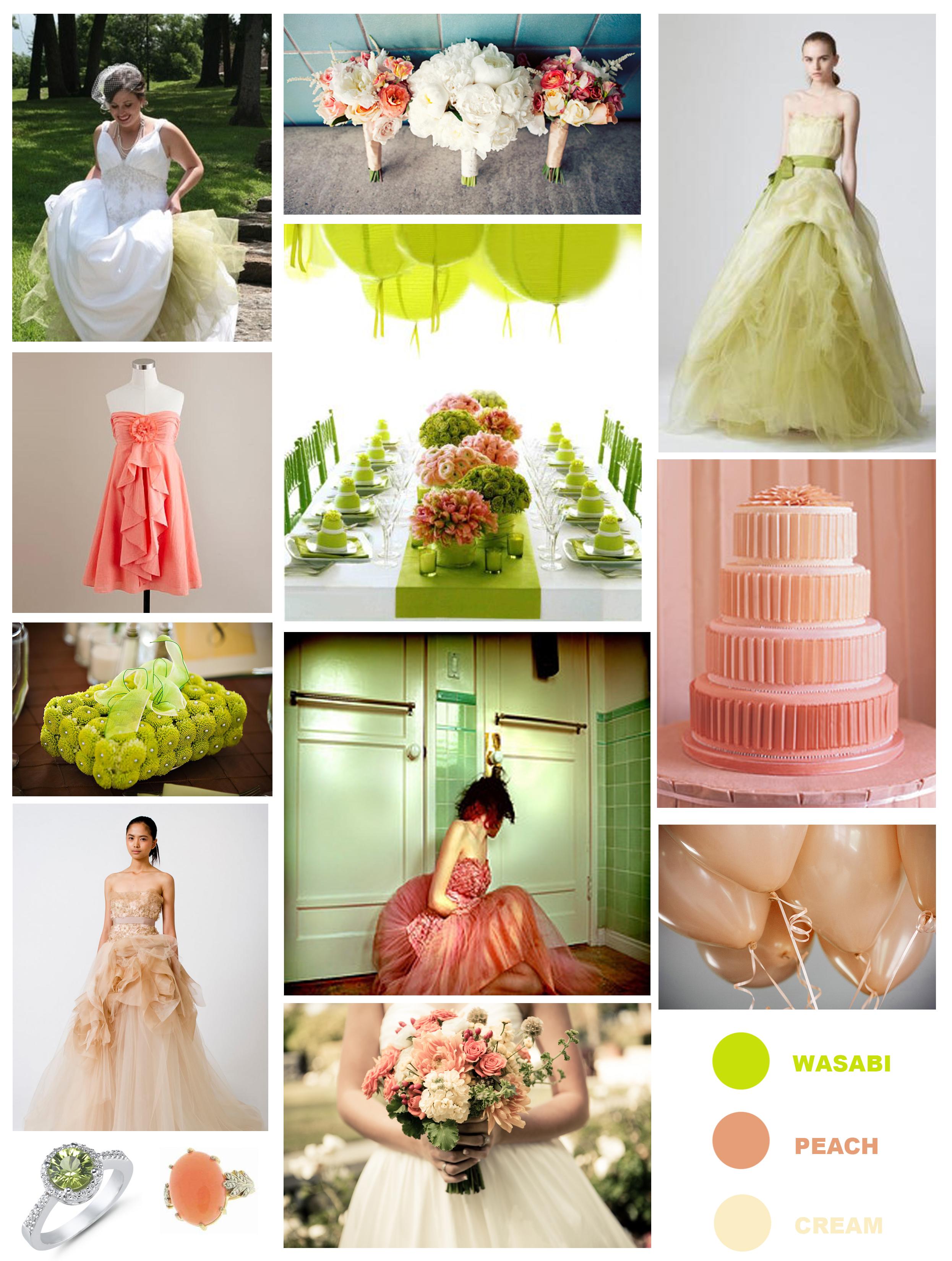 Assorted Color Palette For Summer Wedding