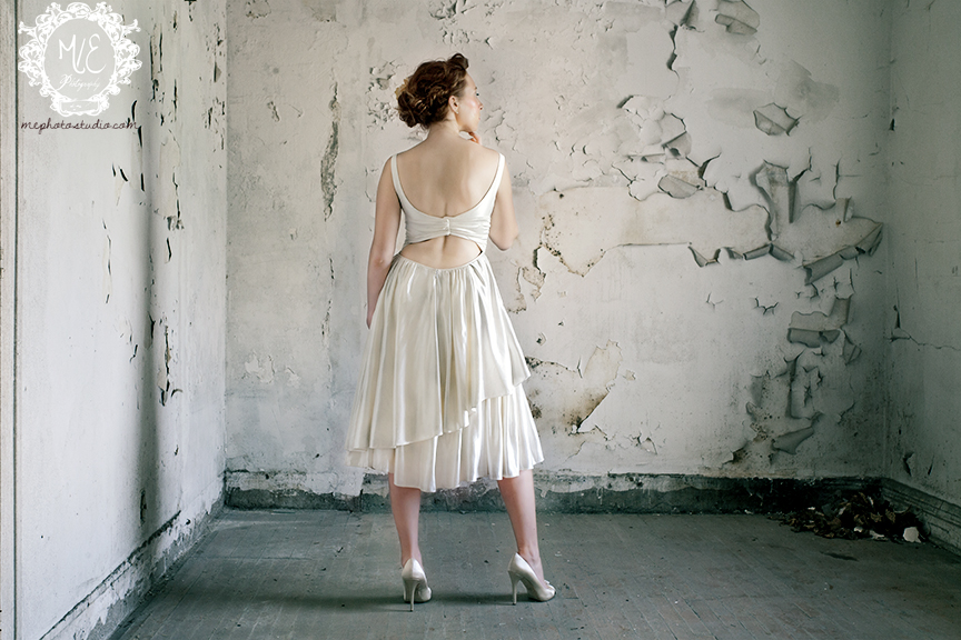 Cypress Gown back short ruffles cutoure back Janay A Handmade