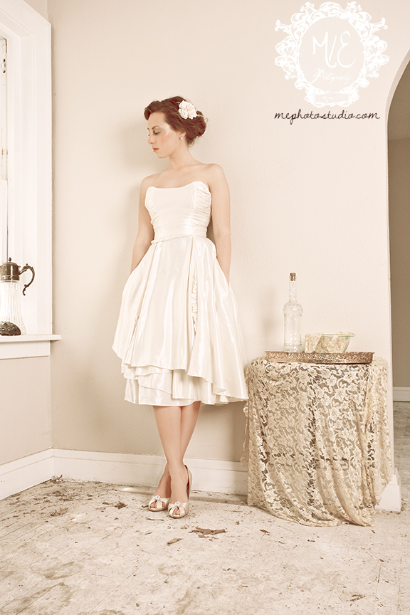 Eco gowns meet larkspur short to long strapless ruffles for Wedding vow renewal dresses