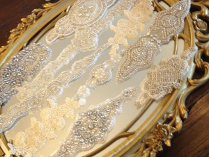 Sparkle Wedding Dress Belt Beading Appliques