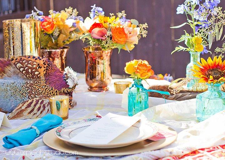 Colorful Bohemian Style Janay A Eco Bridal