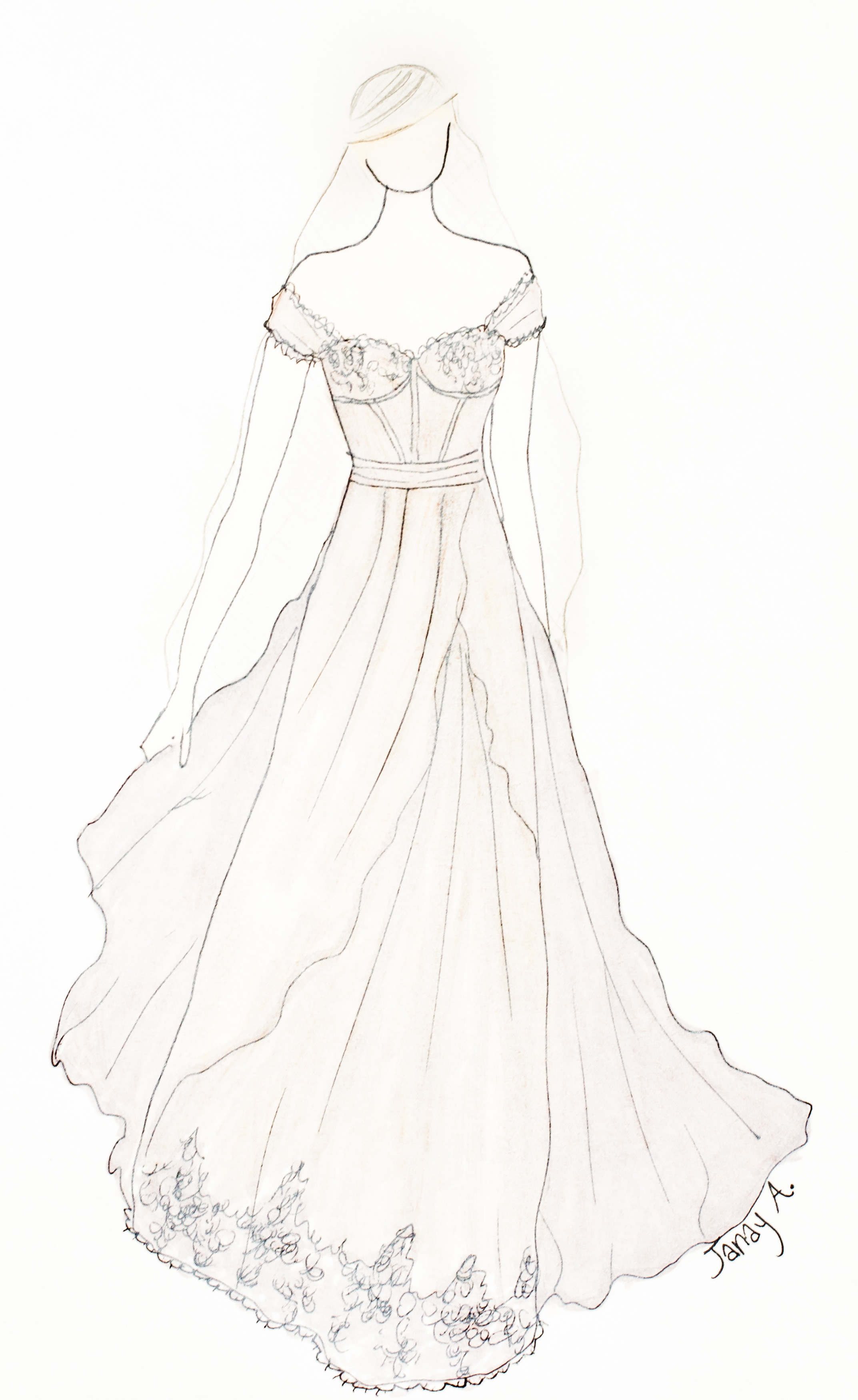 New Collection Sketches – Janay A Eco Bridal