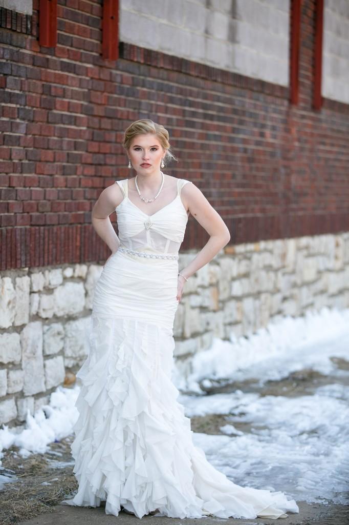 Eco wedding gowns at kansas city fashion week for Organic cotton wedding dress