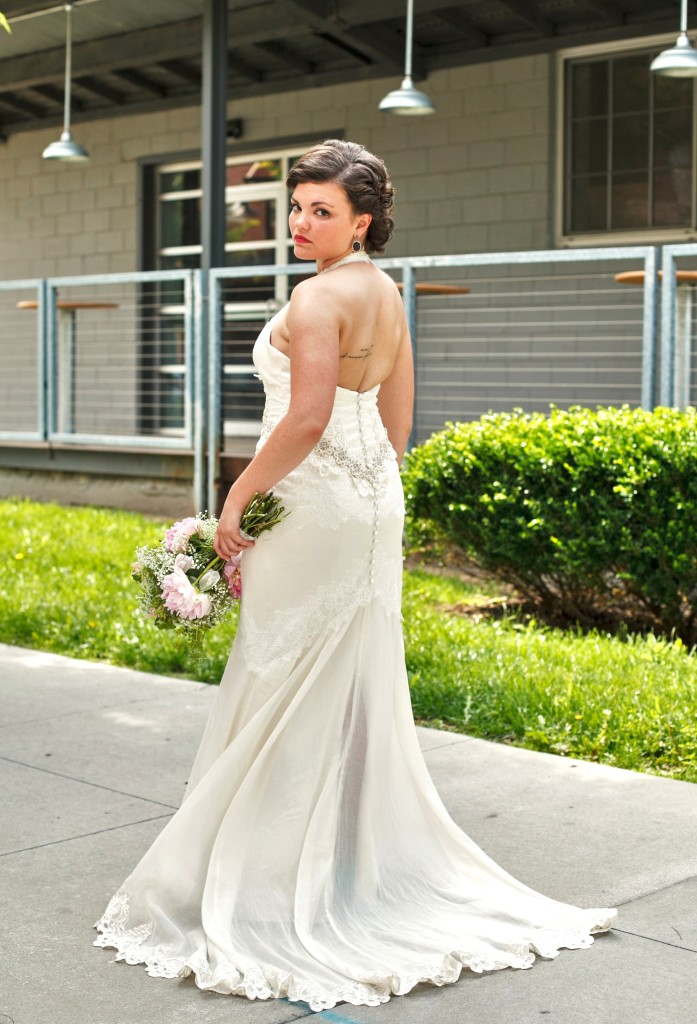 Carly Wedding Dress back, by Janay A