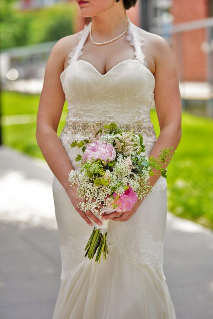 Carly with Wedding Bouquet