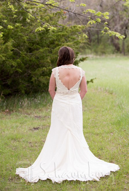 Stacie Wedding Gown Back, by Janay A Kansas City Eco Wedding Dress Designer