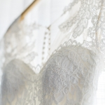 delicate lace scalloped gown details kansas city best bridal alterations