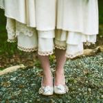 cotton wedding dress lace edging