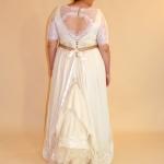 Katie custom gown bustled