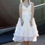 Asia's Taffeta Petal Party Wedding Dress