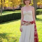 Jessica's Custom Striped Dress and Kimono belt