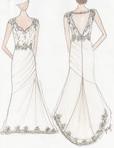 Stacie Custom Gown Sketch Janay A