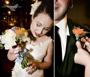 1940's style wedding flowers, carnival theme by Ornamental Petal