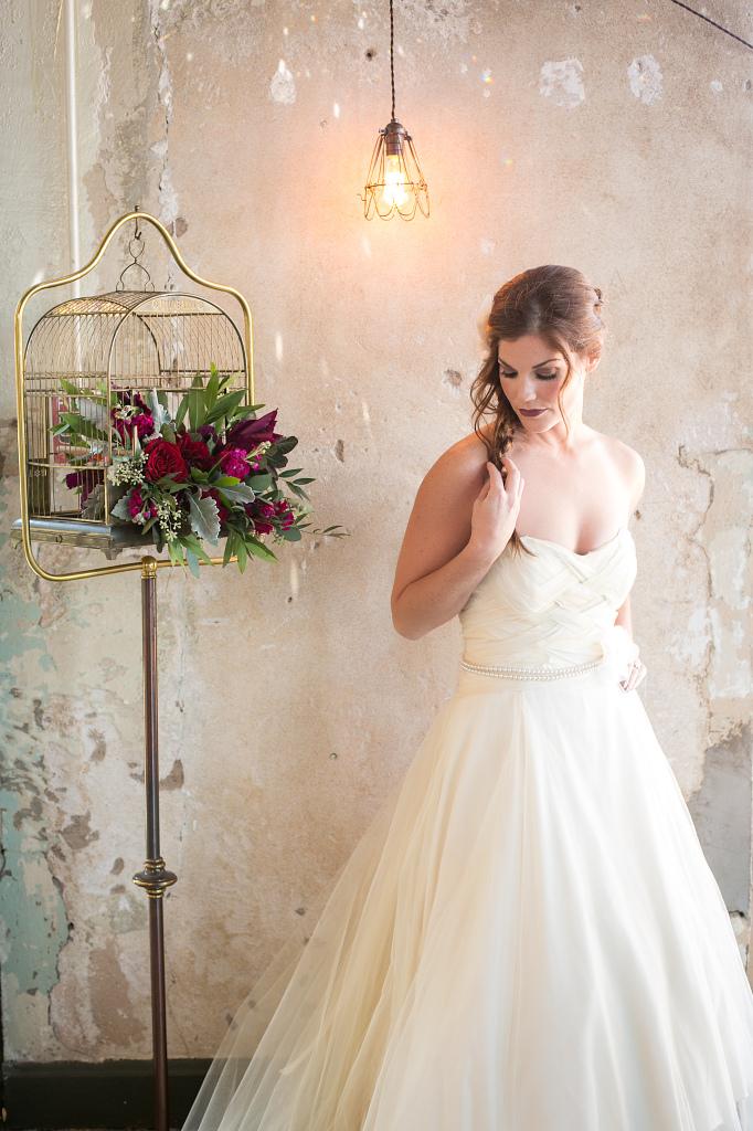 Tulle ballgown wedding gown kansas city