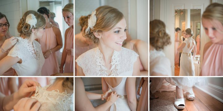 Justina Getting Ready, heirloom dress by Janay A