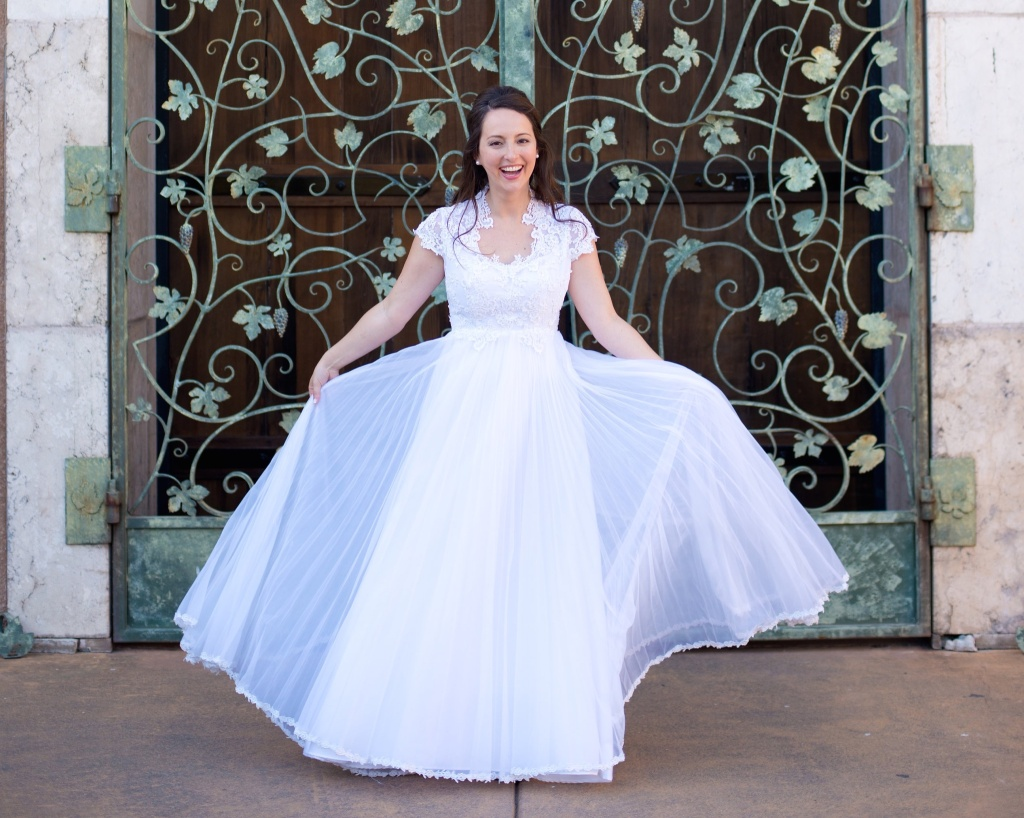 Lauren Vintage Wedding Gown Fun Kansas City Wedding Dress