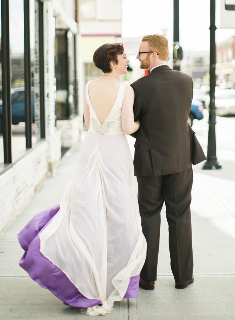 Lindsey Handmade custom gown by janay A Back Full length
